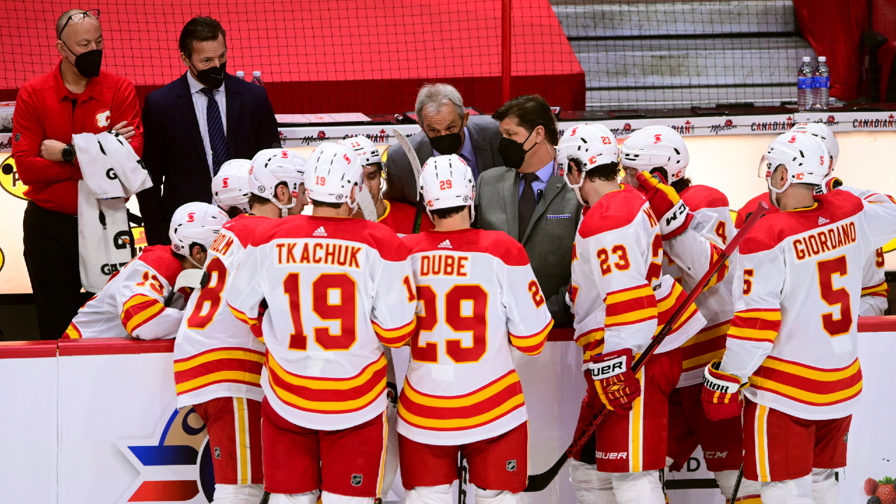 Peter Loubardias talks Flames' five-game road-trip and Lindholm