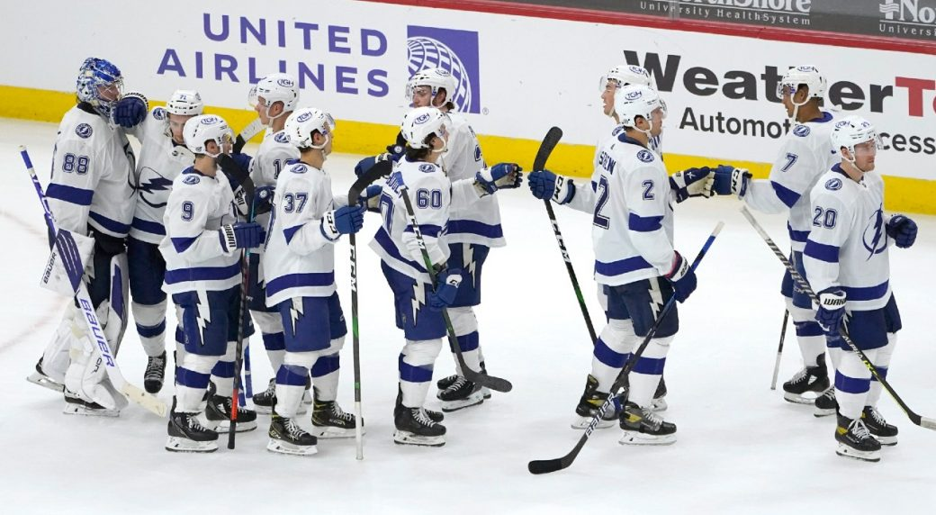 Two-fer Tuesday. The Lightning and the Panthers both secure playoff positions on the same night