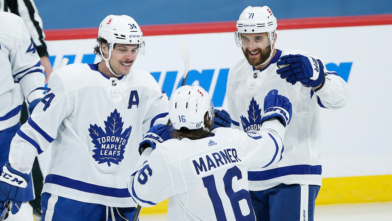 Leafs end five-game skid with win over Jets in heavyweight North battle