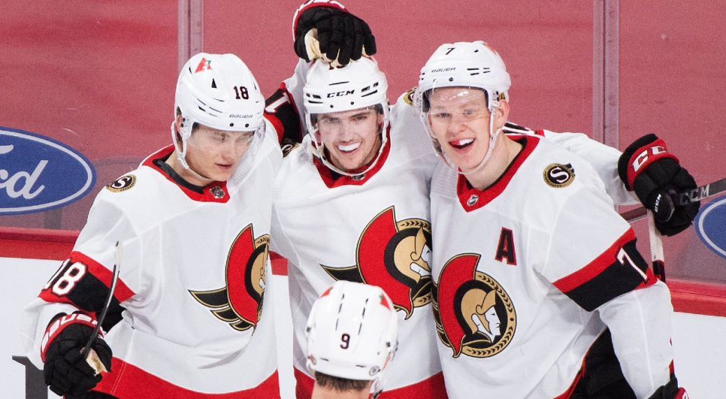 Another positive step for Sens as Stutzle nothces his first NHL hat trick