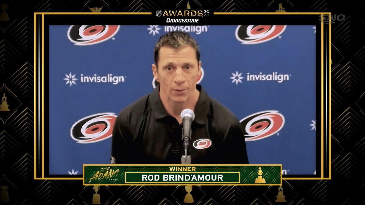 Hurricanes coach Rod Brind'Amour wins 2021 Jack Adams Award