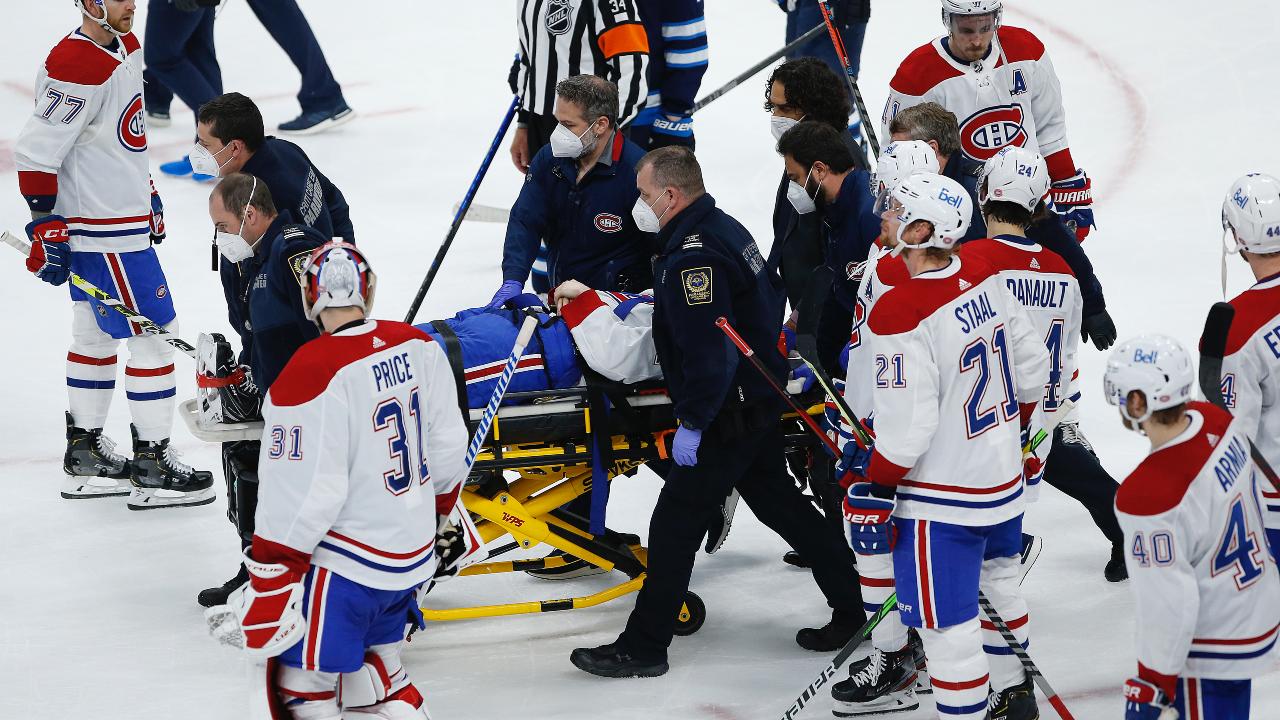 Canadiens' Jake Evans resumes off-ice training