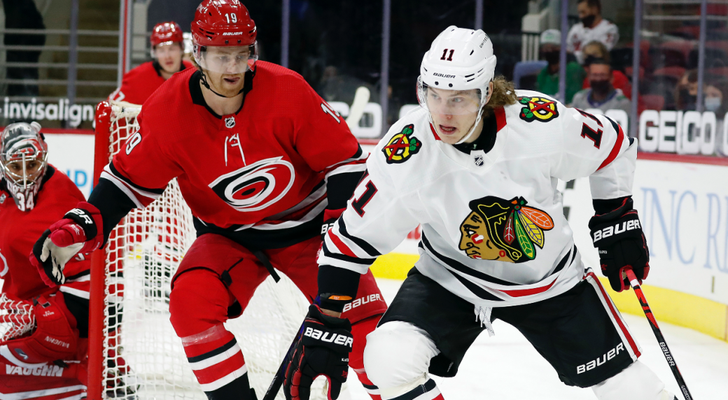 Blackhawks sign Adam Gaudette to one-year contract extension