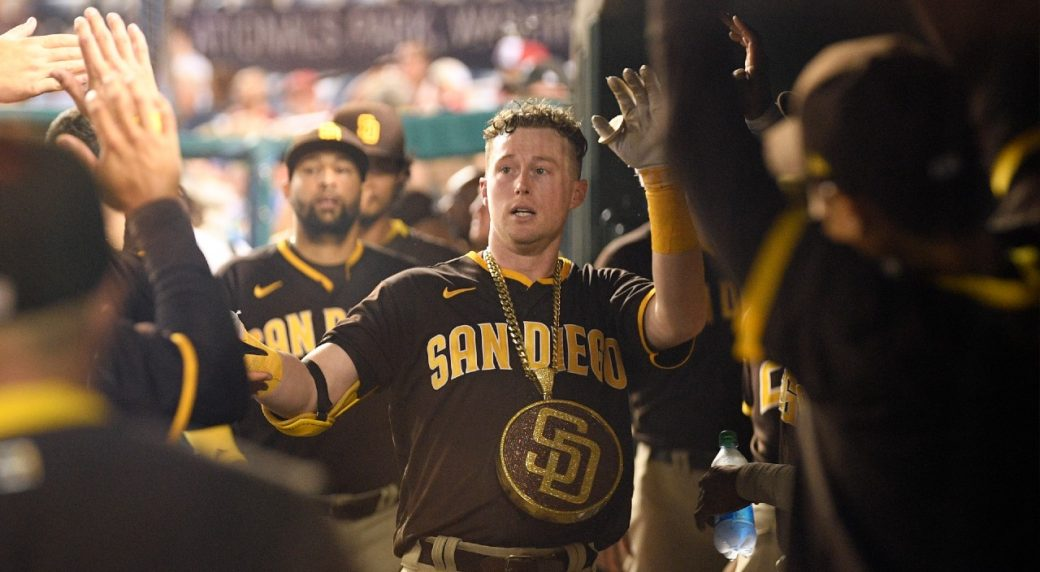 Cronenworth hits for cycle and Padres score 24 in win over Nationals
