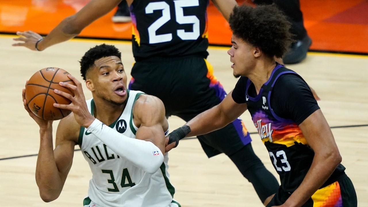 The Bucks' Giannis Antetokounmpo felt great in returning from Game 1