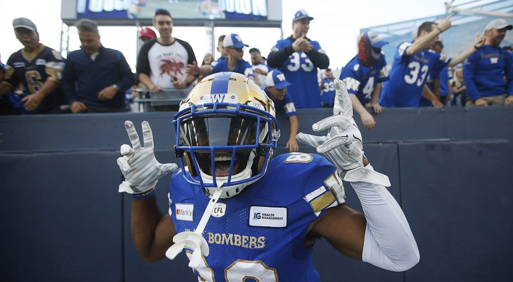 Blue Bombers beat the Tiger-Cats in front of a packed crowd at the CFL season opener