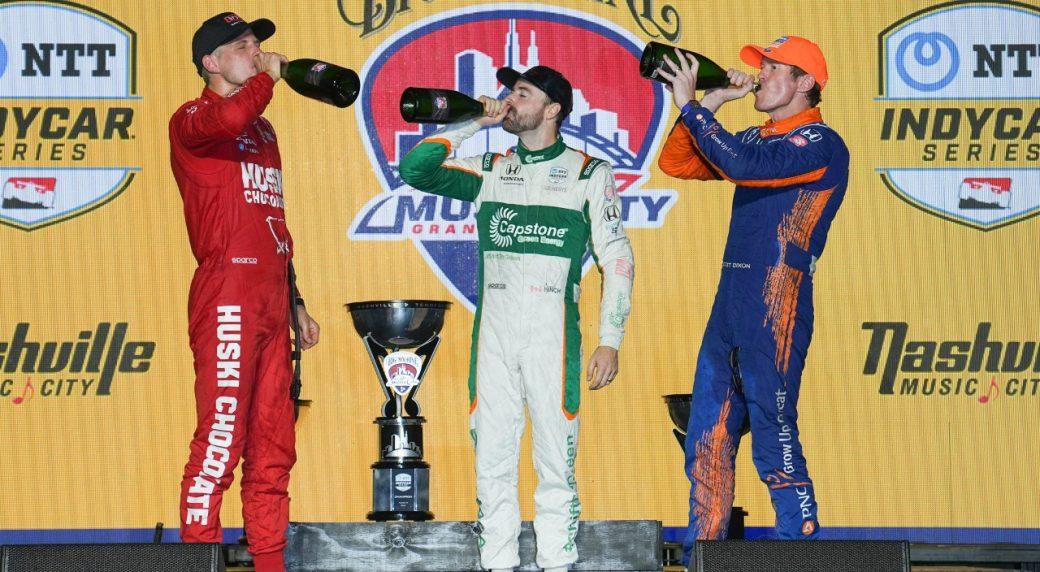 Hinchcliffe achieves season's best podium at Nashville