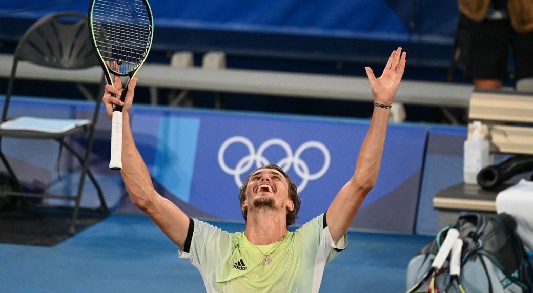 Zverev beats Khachanov to win men's singles tennis gold at Tokyo Olympics