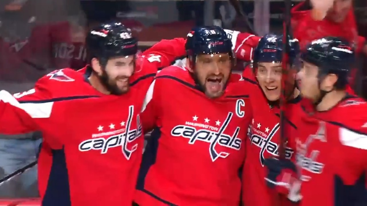 Ovechkin rifles one past Vladar to score his fifth of the season